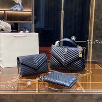 Designer Three-peça totes luxo marca bolsa única zíper carteiras mulheres bolsas de couro real sacos de couro senhora bolsa de xadrez de bagagem por fenhongbag 03