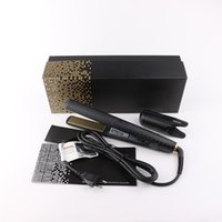 V Gold Hair Straightener Classic Professional styler Fast Hair Straightening Iron Hair Styling tool With Retail Box DHL Fast delivery