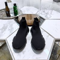 Running sports triple black casual shoes fashion flat socks boots Genuine Leather six color size 35-45