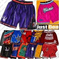 Sadece Basketbol Şort Don Mitchell Ness Cep Pantolon Büyük Yüz Retro Otantik Fermuar Sweatpant Pantalones Cortos Baloncesto