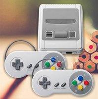 سوبر مصغرة SFC-620 ريتاكس الكلاسيكية تلفزيون ألعاب الفيديو دعم الزوجي اللاعبين المحمولة لعبة وحدة التحكم كابل av خارج ل fc nes أطفال هدية