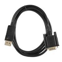 DP к кабелю преобразования VGA, стандартный мужской кабель 1080P для ноутбуков Компьютеры Компьютерные кабели разъемы