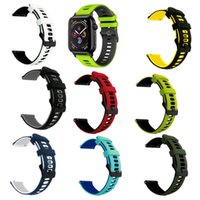Dual Color Straps Watchband Sport Silicone Band Replacement Bracelet Bands With Adapter for Apple Watch iWatch 7 6 5 Size 40 41 44 45mm