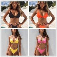 مثير مثلث بيكيني مجموعة جديدة المرأة الصلبة المايوه ملابس الصيف شاطئ ارتداء الإناث منخفضة الخصر الأحمر ملابس السباحة biquini 758 z2