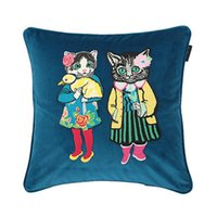 Luxury designer pillow case classic cat pattern embroidery cushion cover 45*45cm for home decoration and festival Christmas gifts 2022 new