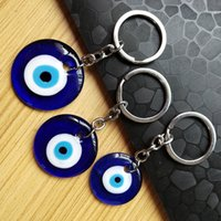 Fashion Lucky Turkish Greek Blue Eye Keychain Charm Pendant Gift Fit Jewelry DIY Car Key Chains Ring Holder Accessories