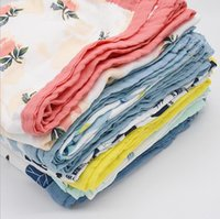 Baby Blankets Printed Muslin Gauze Swaddle Wrap Four-Layer Soft Bath Towels Nursery Sleepsack Stroller Cover 120*120cm 27 Designs BT6510