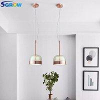 Pendant Lamps SGROW Modern Glass Lampshade Lights For Living Room Dinning Bedroom Kitchen Art Led Hanging Lamp Lighting Fixtures