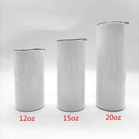Sublimation Straight Tumblers Blanks 12 15 20 oz Stainless Steel Car Cups Tumbler Travel Mugs Insulated Water Bottle WLL-YFAB2301