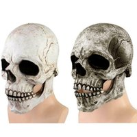 Scary Full Head Skull Mask Helmet With Movable Jaw For Cosplay Halloween Party Prop Horror Headgear SPIKE