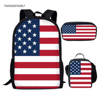 Schultaschen TwoeHeartgirl Classic USK UK UK-Flagge Drucktasche Sets für Kinder Mode Teenager Jungen Mädchen Schultasche Student Bookbags