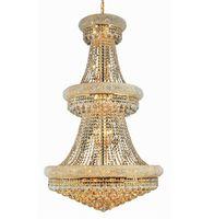 Современная французская империя Gold / Chrome Большие хрустальные люстры люстры Освещение Подвесные светильники света освещение для виллы лестницы живущая комната