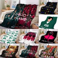 34 Color TV squid game flannel blankets 75x100 100x150 130x150 CM microplush velvet fleece cartoon Throw blanket Ultra Soft All Season sofa nap cover