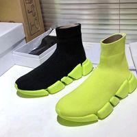 محبوك الجوارب مرنة أحذية ربيع الخريف الكلاسيكية مثير رياضة عارضة النساء الأحذية منصة أزياء الرجال الرياضة التمهيد سيدة الدانتيل يصل أحذية رياضية سميكة كبيرة الحجم 41-42-45 US5-US1