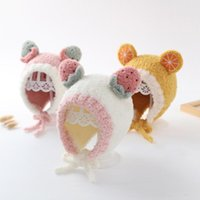 Caps & Hats Cute Fruit Ear Baby Hat Winter Soft Warm Plush Boy Girl Protection Kids Children Beanies Cap Bonnet