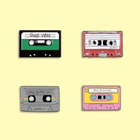 Classic Videotape pin Recording Memories Enamel Pins Vintage Cassette Tape Badge Brooch Clothes bag Jewelry Gift For Friends