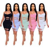 Bayan Mini Elbise Mesh Bodysuit Seksi Artı Boyutu 3XL Giysi Fishnet Etek Yaz Katı Renk Sling Burnt Şerit Elbiseler