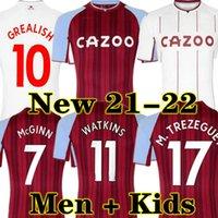 Grealish 21 22 Aston Soccer Jersey Villa Buendía Traore Barkley 2021 2022 Watkins Wesley El Ghazi M.Tezeguet McGinn Football Shirt Men and Kits Kits