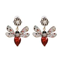 Dangle & Chandelier JUJIA 2 Colors Women's Metal Bee Fashion Earring Jewelry Female Crystal For Christmas Gift Statement