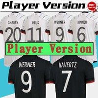 نسخة لاعب ألمانيا Soccer Jersey Kimmich Gnabry Home Away قميص أمة كرة القدم مخصصة S-2XL