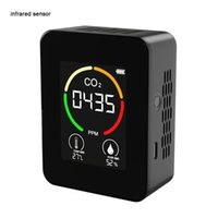 Smart Home Sensor Air Quality Monitors Compact LCD Display CO2 PPM Meters Mini Carbon Dioxide Detector Gas Analyzer