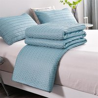Blankets Weighted Blanket Knitted Cotton Bed Cover Summer Cooling Deep Sleep Quilt For Sofa Jacquard Solid Color Home Decor