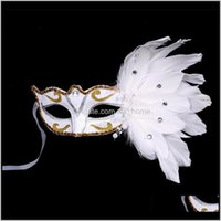 Party Masquerade Sexy Frauen Halbgesicht Multi Color Princess Halloween Masken Stil Mini Feder Spitze Maske Wnut3 9uea