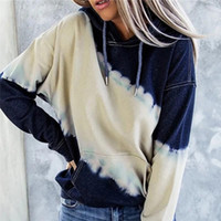 Women's Hoodies & Sweatshirts Autumn Women Casual Patchwork Hooded Front Pockets Fashion Female Long Sleeves Pullover