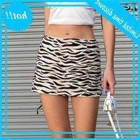 Suchcute zebra padrão sexy mini saia para as mulheres baixo cintura streetwear y2k estética vintage slim outfits saias 2021 nova moda