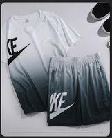 2021 Neueste Modedesigner Trainingsanzüge Sommer 2-teilige Herren Sportswear-Anzüge Sport Fitness drucken Plus Größe Frauen Kleidung