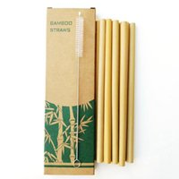 Reusable Bamboo Straws Bamboo Drinking Straw Eco Friendly Handcrafted Natural Drinking Straws 15cm 18cm 20cm 23cm