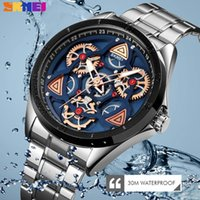 SKMEI 1678 Quartz Homens Relógios Casuais Relógio Impermeável Pulseira De Aço Inoxidável Relógio de Pulso Relogio Masculino Relógios