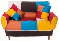Muebles de sala de estar u_style pequeño espacio colorido sofá cama, patas de madera maciza