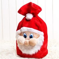 Gift Wrap -Santa Claus Backpack Candy Bag Gold Velvet Beam Mount Christmas Kids Gifts Family Decoration