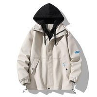 Men's Jackets 8068 Spring Autumn Men Hooded Jacket Patchwork Korean Style Sport Trendy All-Match Fashion Drawstring Handsome Youth Casual Co