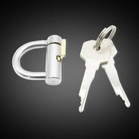 HappyGo, Titanium D-Ring PA Lock Glans Piercing Masculino Dispositivo de Pene Arneses Restricción Ajuste Ajuste, PA PUNTURTE, A294 S0825