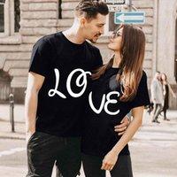 Women's T-Shirt Fashion Plus Size Tops Valentine's Day Letter Printed Short Sleeve Unisex Harajuku Couple Tshirts Summer Clothing