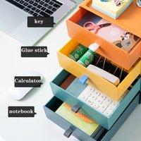 Cassetti di stoccaggio Tipo Contrasto Box Color Box Desktop Desktop può impilare file multi-funzione Cassetto cassetto Dimensioni 20 * 21 * 8 cm