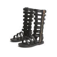 Сандалии 2021 летние девушки обувь кожа мода малышей гладиатор младенца высокие верхние римские песчаники для B969