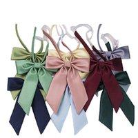 Laço de colarinho sólido gravata Bonito Bow-Nó Japonesa Menina Bowtie Borboleta Cravats Ternos JK Uniforme Acessórios Gravatas