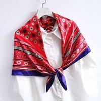 Alta Qualidade Novo 90 cm de 90 cm grande bolinhas caju porca impresso lenço de seda, feminino malatou