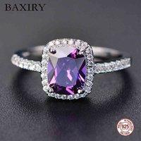 Love Ring Eternity Diamond Rings for Women 100%925 Sterling Sier White Gold Jewel Amethist Natural Moissanite