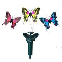 Gartendekorationen Solar Power Tanzen Rotierende Schmetterlinge Flattern Vibration Kolibri Fliegende Vögel Gartengarten-Dekoration FWF11017