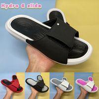 Mode Hydro 6 Slide Hausschuhe Schuhe Sandalen Schwarz Metallic Gold Gym Rot Weiß Cool Grau Rosa Männer Frauen Folien mit Box