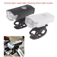 Bike Lights USB Rechargeable Bicycle Light LED Mountain Cycle Front Waterproof Flashligh Lamp Set