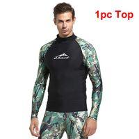 SBART Lycra Surf T Shirt Manica Lunga Manica Rash Guard Men Thights Pantaloni professionali Pantaloni da bagno Costumi da bagno Top Wetsuit Rashguard per abiti da un pezzo