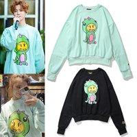 Trendy Drew House Smiley Face Dinosaurier Übergroße Beiläufige Rundhals-Pullover für Männer und Frauen