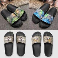 Tasarımcı Kauçuk Terlik Slaytlar Sandalet Erkek Kadınlar Çiçek Yaz Plaj Slayt Düz Platformu Bayanlar Sandali Banyo Ev Ayakkabı Flip Flop Çizgili Dişli Dipleri Sliders