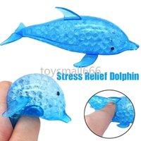 Fidget Juguetes para niños adultos Descompresión Spongy Dolphin Tiburón Squishy Bead Ball Ball Juguete exprimido anti estrés juguetes
