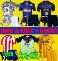 Liga MX 2021 2022 Club America Tigres Unam Soccer Jerseys Chivas 115 سنة ثالث 20 21 22 مونتيري كاميساس دي شيرت كرة القدم الرجال كيت